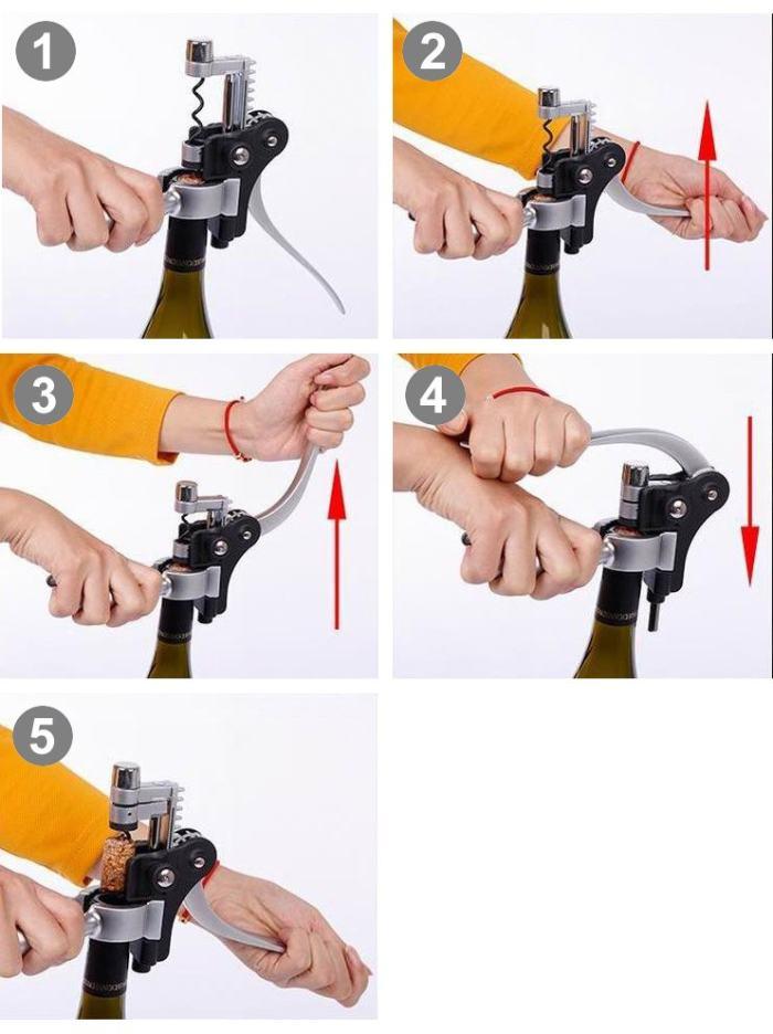 Lever Style Wine Bottle Opener