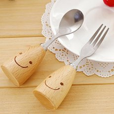 Smiling Spoon and Fork Set