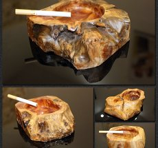 Natural Wooden Ashtray