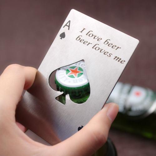 Poker Bottle Opener Gift for Groomsmen