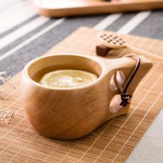 Ergonomic Wooden Coffee Mug