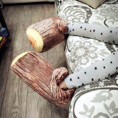 Wood Stump Slippers