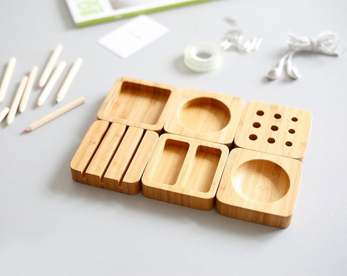 Clearance Sales Bamboo Desktop Organizer Blocks