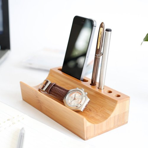 Bamboo Desktop Valet