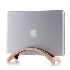 Bent Wood Macbook Stand Dock Holder Laptop Stand for HP Asus Dell Lenovo Acer