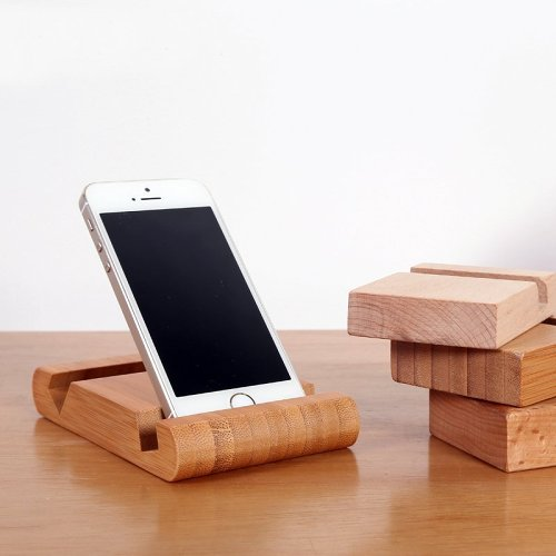 Bamboo Phone Holder Card Holder