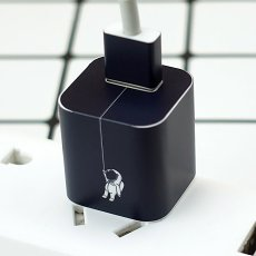 Astronaut iPhone Charger Stickers