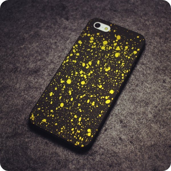 Yellow Starry Night iPhone Cases