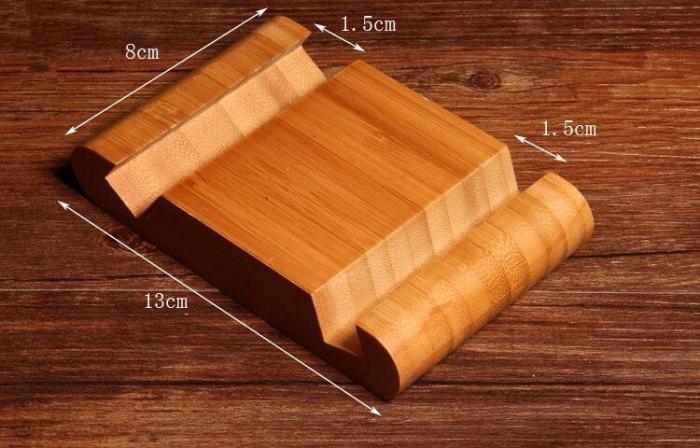Bamboo Phone Holder Card Holder