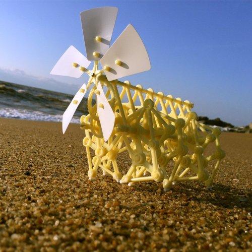 Wind Powered Mini Strandbeest Kit Wind Power Beast Education Toys for School Elementary Grade Schooler Gifts for Children Teen