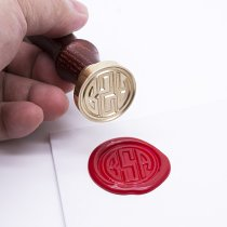 Personalized Circle Monogram Wax Seal Stamp Kit