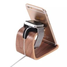 Bent Polywood Apple Watch Charger Holder