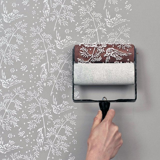 Patterned Paint Roller Kit Stencil Rollers