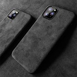 Alcantara iPhone Case iPhone 7 11 12 Pro Max Case Personalized Genuine Leather Phone Case