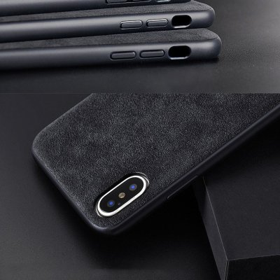 Alcantara iPhone Case iPhone 7 11 12 Pro Max Case Personalized Genuine Leather Phone Case