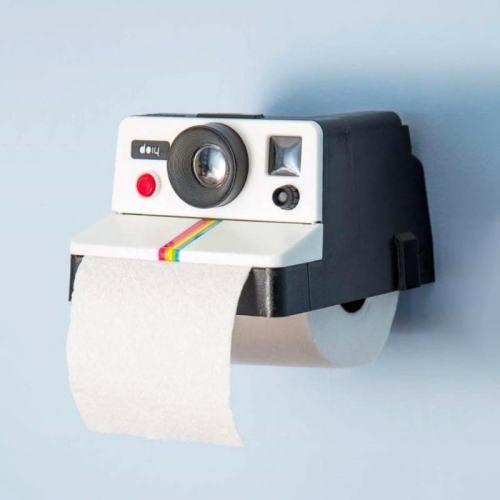 POLAROLL Toilet Paper Holder Rollo Cámara Papel de Baño Camera Tissue Box 相機創意紙巾盒카메라 티슈 박스