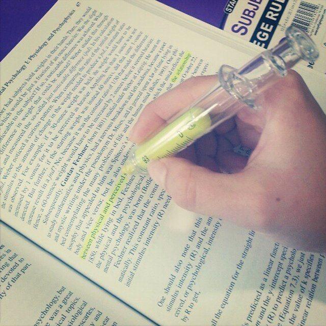 Syringe Highlighters (6 pen per set)