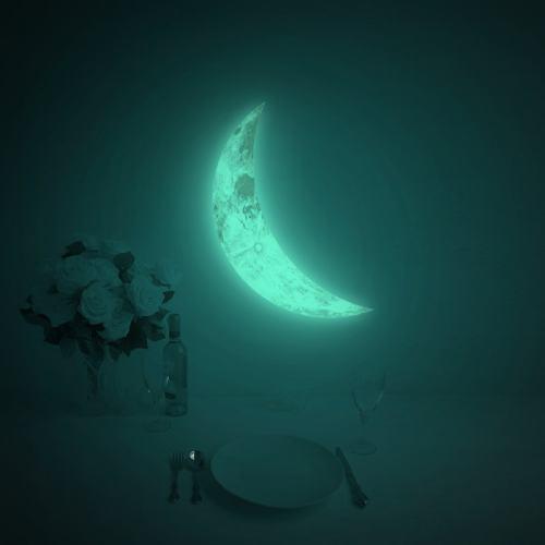 Luna Crescent Glow In The Dark Moon Sticker
