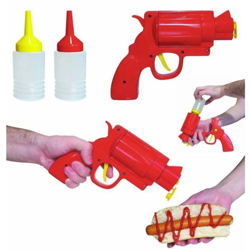 Condiment Gun Pistol Sauces Dispenser