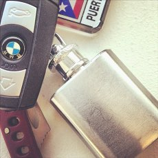 1 Oz. Mini Flask Keychain