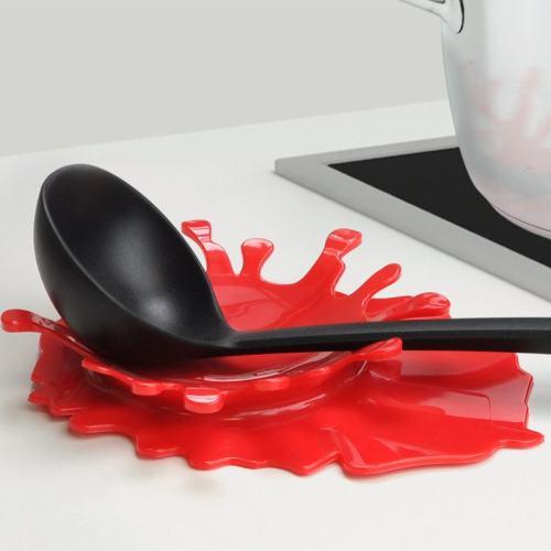 Splash Red Spoon Rest