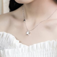 Tiny Stars Necklace 925 Silver Necklace Gifts for Women