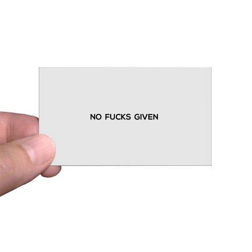 No Fucks Given Calling Cards