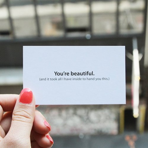 You're Beautiful Cards