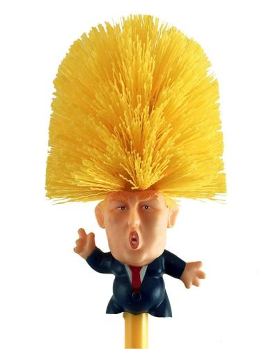 Donald Trump Toilet Brush Set