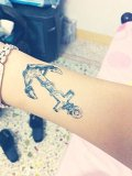 Anchor & Rudder Temporary Tattoo