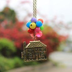 Rainbow Balloon House Necklace