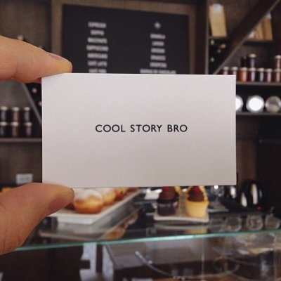 Cool Story Bro Calling Cards