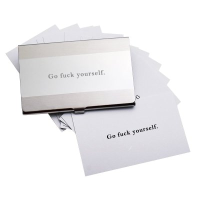 Go Fuck Yourself Calling Cards : Veasoon