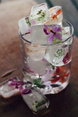 DIY Floral Ice Cubes