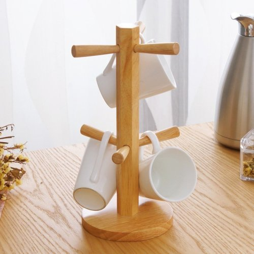 Wood Mug Tree Stand