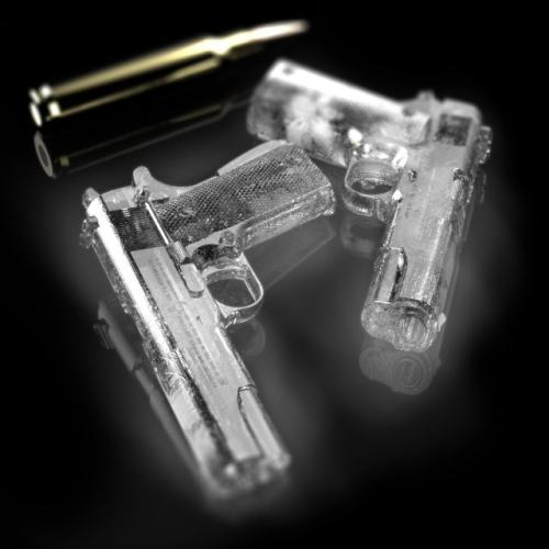 Ice Cold Colt Hand Gun Ice Cubes