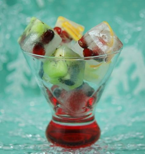 Fruit-Filled Ice Cubes