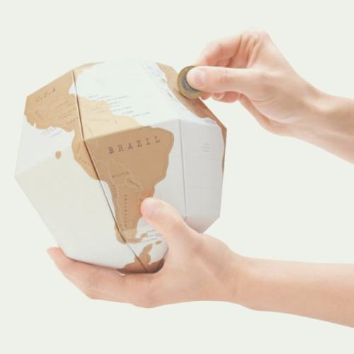 Scratch Map Globe