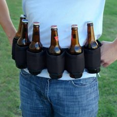 Deluxe Six-Pack Beer Belt Holster