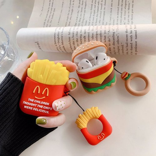 Hamburger & French Fries AirPods Case For Apple Airpods 1 2 Pro Gift for Women Girls