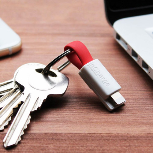 The World's Smallest Keyring Cable for iPhone Android Type-C Tiny Cable Keychain Gifts for Father
