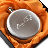 The Hell With Work Flask 5oz Round Hip Flask Gift for Women
