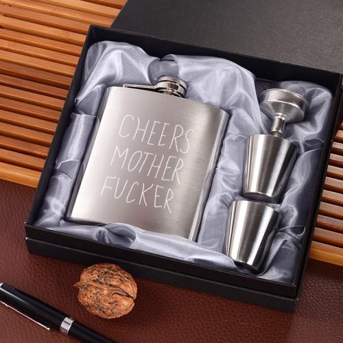 Cheers Mother Fucker Flask Customizable Flask