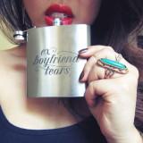 Ex Boyfriend Tears Flask 8oz Personalized Gifts