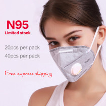 Professional KN95 N95 Multi-Purpose Valved Respirator FDA Approved Face Mask