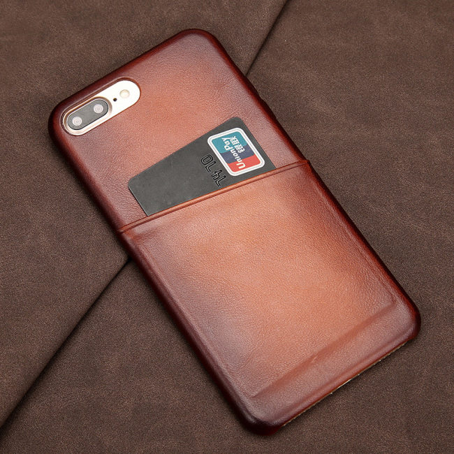 Clearance Antique Lamb Leather iPhone Card Case