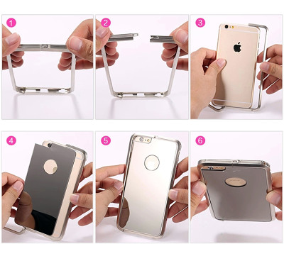 Clearance Alloy iPhone Bumper Case Mirror Case
