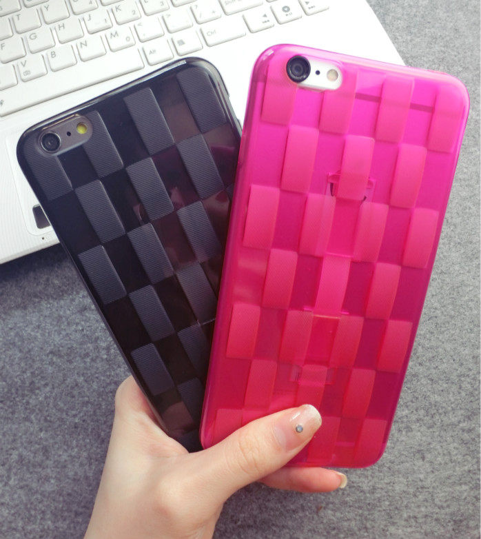 Clearance Sales Woven Design Finger Strap iPhone Case