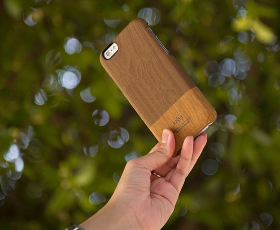 Clearance Wood Grain Leather iPhone Case