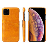Waxy Leather iPhone 11 Pocket Case